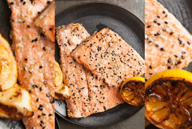 The Joy of Kosher Honey Sesame Side of Salmon by Jamie Geller