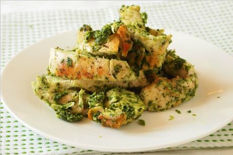 Pesto Grilled Chicken By Tamar Genger from JoyofKosher.com!