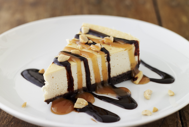 Pareve Snickers Cheesecake for Shavuot! By Jamie Geller from JoyofKosher.com