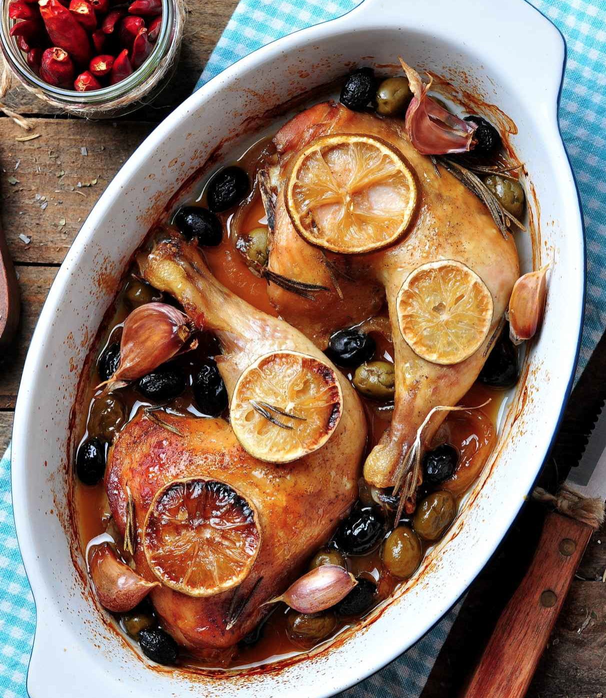 Joyofkosher's Chicken with prunes apricots and olives by Tamar Genger