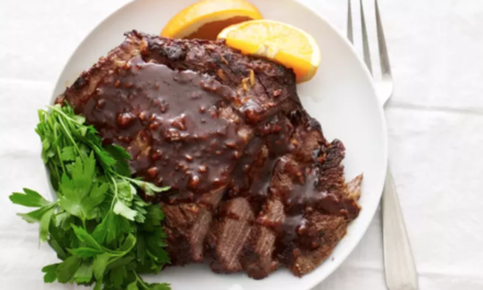 JoyOfKosher's Garlic Honey Brisket by Jamie Geller